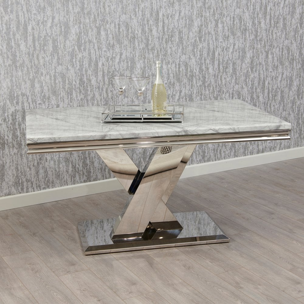 Lavish Marble Top Rectangle Dining Table 1500 Fab Home Interiors